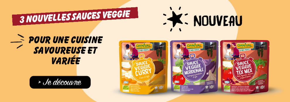 Nouvelles sauces veggie Danival 2019